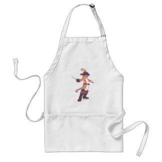 Puss In Boots Illustration Standard Apron