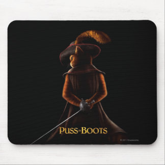 Puss In Boots Poster Blk Mouse Mat