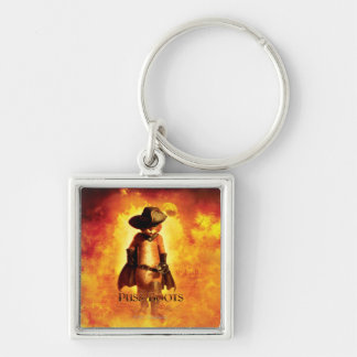Puss In Boots Poster Key Ring