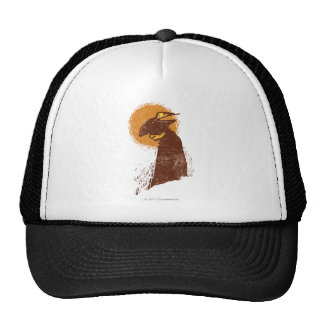 Puss In Boots Silhouette Mesh Hat
