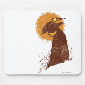 Puss In Boots Silhouette Mouse Pad