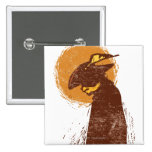 Puss In Boots Silhouette Pinback Buttons