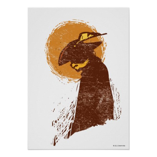 Puss In Boots Silhouette Posters
