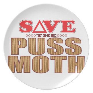 Puss Moth Save Party Plates