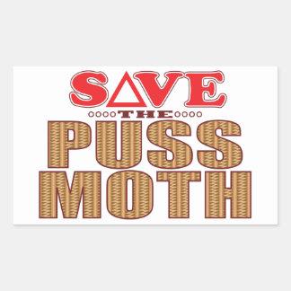 Puss Moth Save Rectangular Sticker