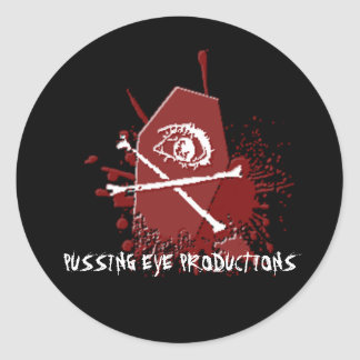 Pussing Eye Casket [STICKER SHEET] Classic Round Sticker