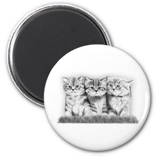 Pussy Cats Refrigerator Magnets