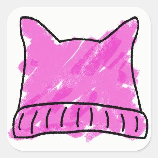 Pussy Hat Doodle Art Sticker