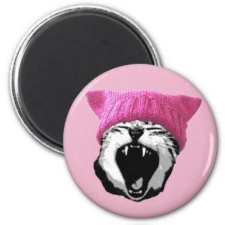 Pussy-hat Magnet - round