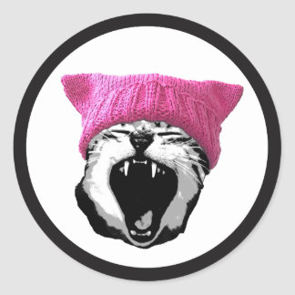 """Pussy-hat Sticker - 3"""" white"""