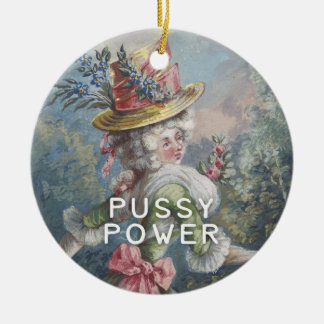 Pussy Power | Feminist AF Christmas Ornament
