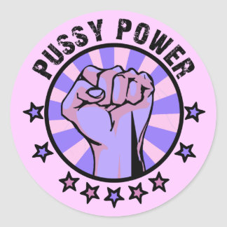 Pussy Power Round Sticker