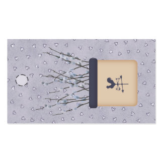 Pussy Willow Hang Tag Pack Of Standard Business Cards