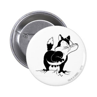 Pussyfoot Claws Away 6 Cm Round Badge
