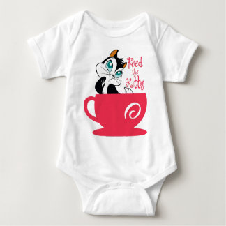 Pussyfoot Feed the Kitty Baby Bodysuit