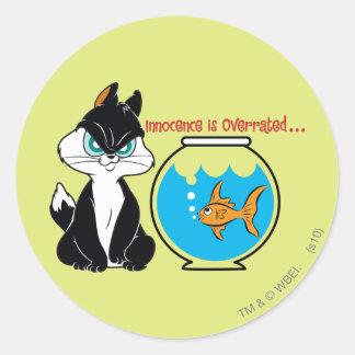Pussyfoot Grumpy Kitty Classic Round Sticker
