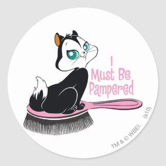 Pussyfoot Pampered Kitty Classic Round Sticker