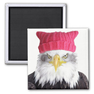 PussyHat Project Women's Rights Eagle Square Magnet