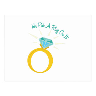Put A Ring On It Postcard