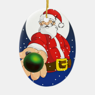 Put child's name and year on Santa Ornament