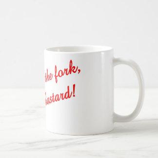 Put down the fork   classic white coffee mug