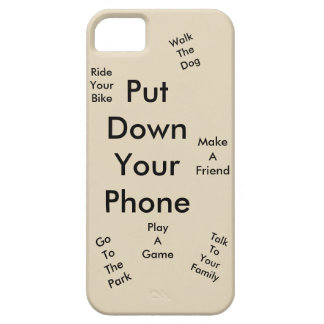 Put down your phone iPhone 5 cover