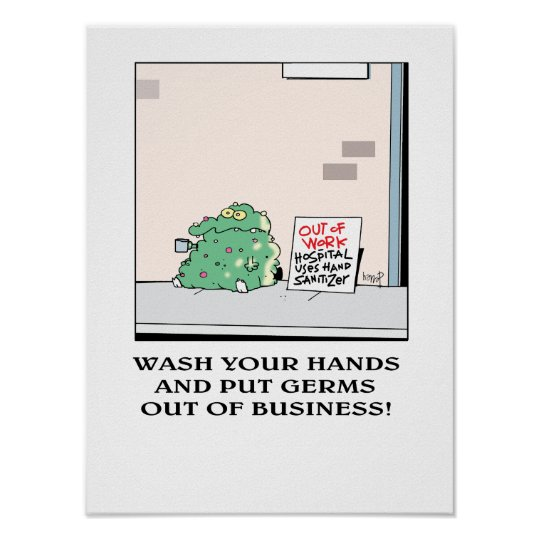 Put Germs out of Business! poster