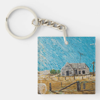 Put Gran in the Cottage Single-Sided Square Acrylic Key Ring