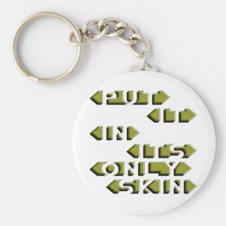 Put It In It's Only Skin Basic Round Button Key Ring