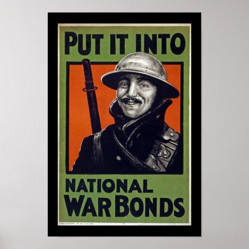 Put It Into National War Bonds (border) Print