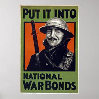 Put It Into National War Bonds canvas Print
