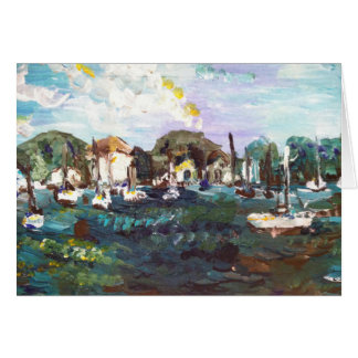 Put-n-Bay Lake Erie Painting #2 Greeting Card