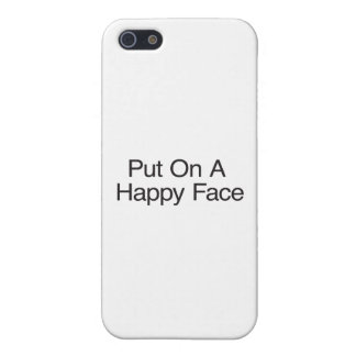 Put On A Happy Face iPhone 5/5S Case