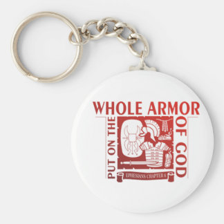 PUT ON THE WHOLE ARMOR OF GOD KEY RING