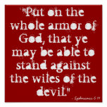 """""""Put on the whole armour of God, that ye may be"""