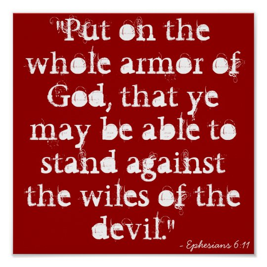 """Put on the whole armour of God, that ye may be Poster"