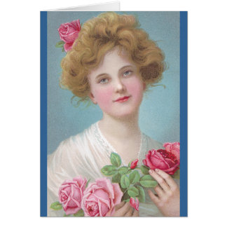 Put Roses in Your Cheeks Greeting Card