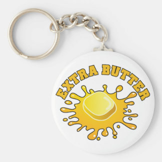 Put Some Extra Butter On It! Basic Round Button Key Ring