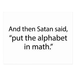 Put The Alphabet In Math Postcard