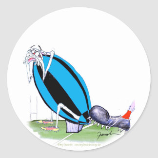put the boot in - rugby, tony fernandes round sticker