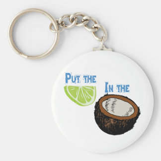 Put the lime in the Coconut! Basic Round Button Key Ring