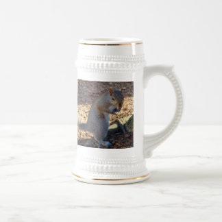"""""""Put Up Your Dukes!"""" Squirrel Beer Stein"""