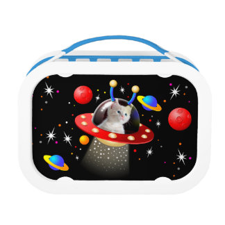 Put your Cat in an Alien Spaceship UFO Sci Fi Lunch Box