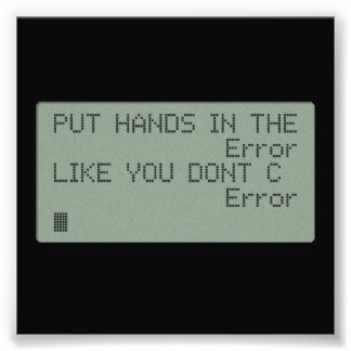 Put your Hands in the Error Photograph