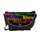 Put Your Name All Over this Colourful Messenger Commuter Bag