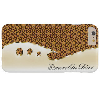 Put your name on this gold and arabesque barely there iPhone 6 plus case