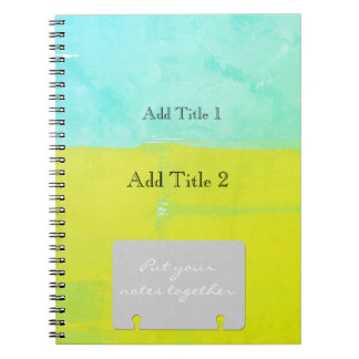 Put Your Notes Together Watercolor Color  Block Notebook