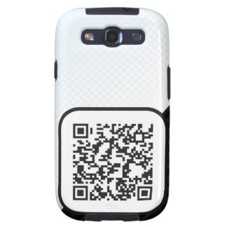 Put your Scannable QR code on these Galaxy S3 Cover