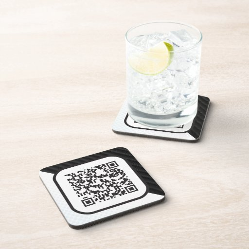 Put your Scannable QR code on these Coaster