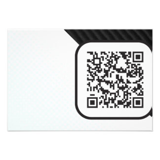 Put your Scannable QR code on these Custom Invitation